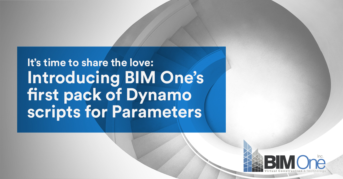 Introducing BIM One's first pack of Dynamo scripts for Parameters